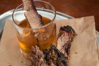 Brisket in the bourbon