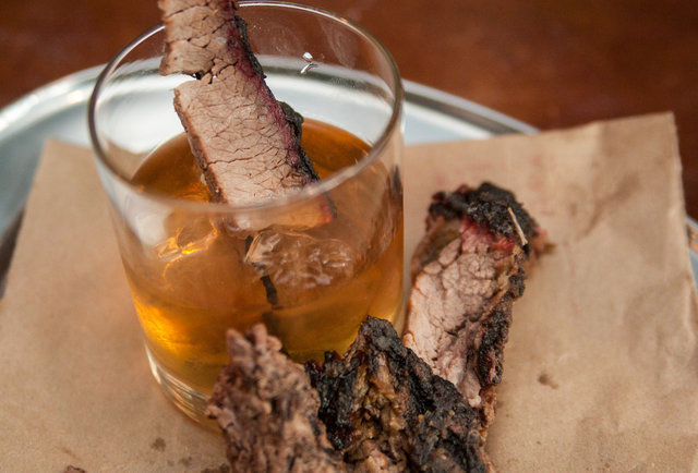 This bourbon is infused with the best brisket in the country