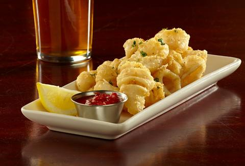 Fried calamari at Rock Bottom La Jolla