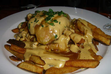 Au Pied de Cochon Montreal sausage poutine gravy