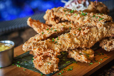 Double Battered Bacon at Tavern on the Beach in San Diego.