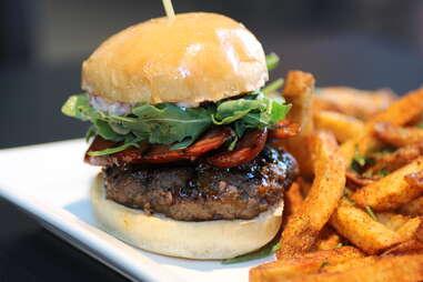 South American burger at Drakes Haus