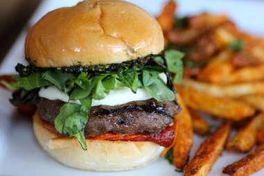 Italian burger at Drakes Haus