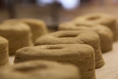 A batch of Swiss Cro Creme Cronuts rise overnight at Swisshaus Bakery