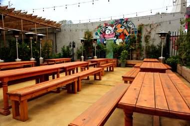 Beer garden at The Butcher Shop