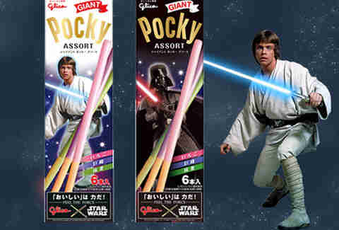 Star Wars lightsaber Pocky