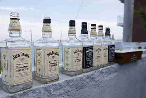 Bottles of Jack Daniel's at the Jersey Shore
