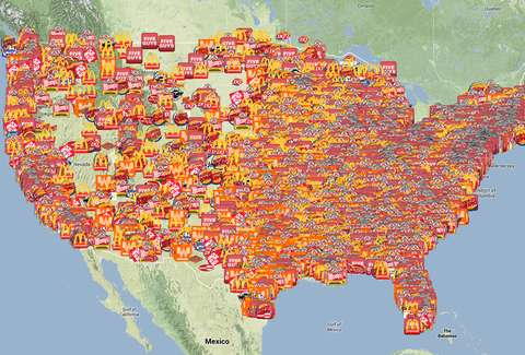 Kytics Fast Food Twitter Map