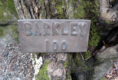 Barkley Trail extreme marathon sign