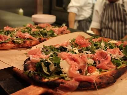 Flatbread pizza at Bistro Joe's