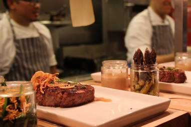Butcher's block steak at Bistro Joe's