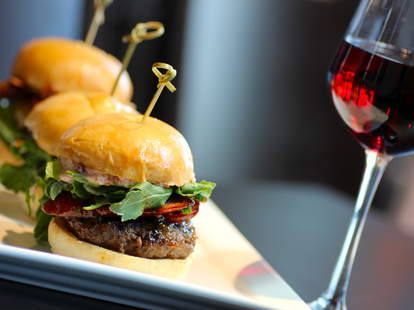 Red wine-infused burgers