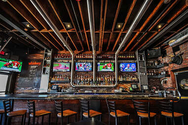 The back bar at Tavern on the Beach in Pacific Beach San Diego.