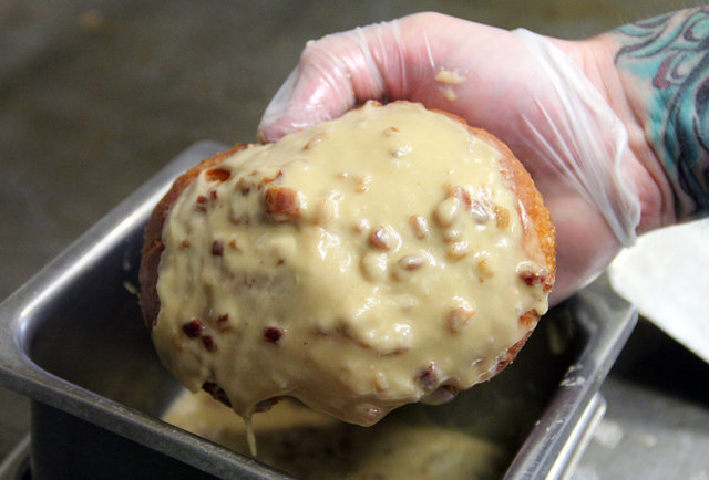 The Bronut: Why yes, it is a FRIED EGG-TOPPED BURGER ON A MAPLE BACON DONUT