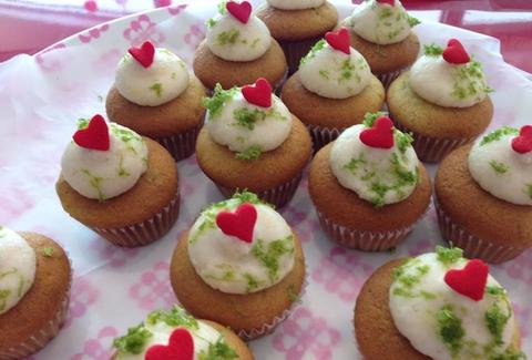 Key lime cupcakes at Bunnie Cakes in Miami, FL