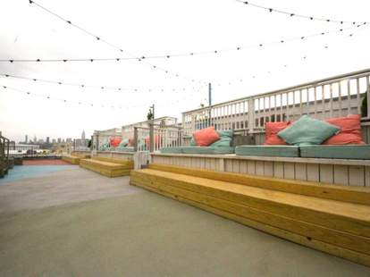 Rooftop seating at Canopy Bar