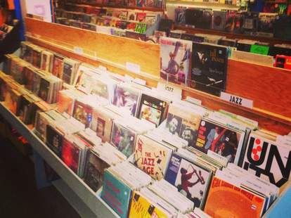 Rows and rows of vinyl at Waterloo Records