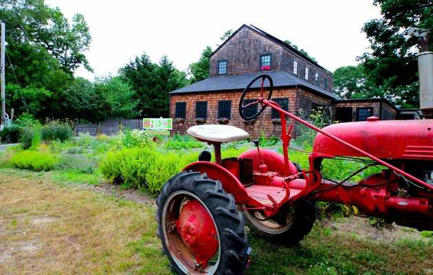 That tractor isn't just for show -- this family-style joint has its very own farm out front