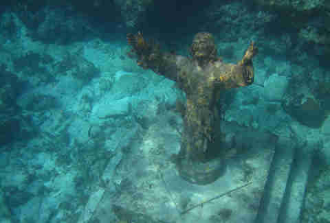 Christ of the Abyss at San Fruttuoso, Italy