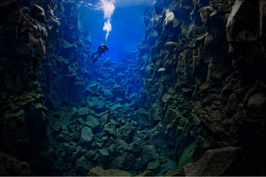 Continental Trench in Silfra, Iceland