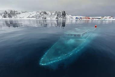 Endless Sea Sunken Yacht in Antarctica