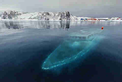 Endless Sea Sunken Yacht in Antarctica