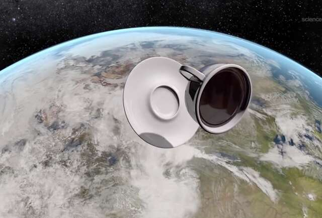 Gawk at NASA\'s zero gravity coffee cup