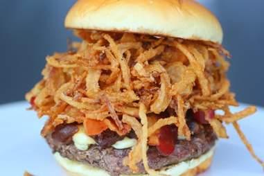 burger from Bulldog BBQ & Burger