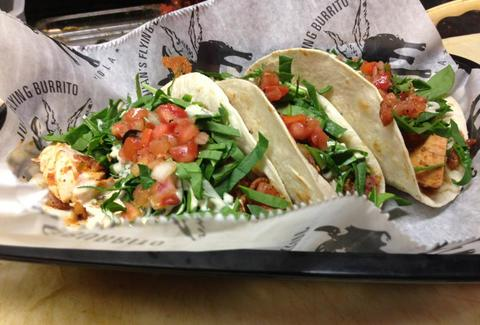 Juan's Flying Burrito chicken ranch tacos