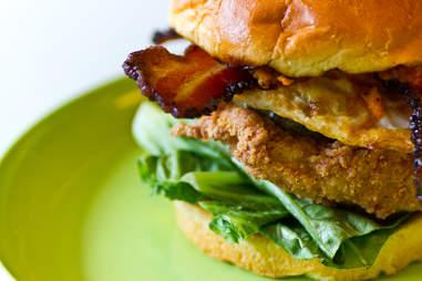 Chick-a-Biddy - Fully loaded fried chicken sandwich