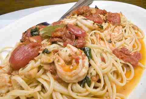 Carmine's Vegas -- Linguine with Red Shrimp Sauce