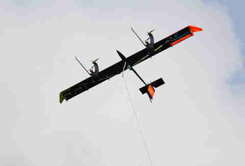 A Makani turbine kite in action