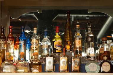 bottles of tequila at Rio