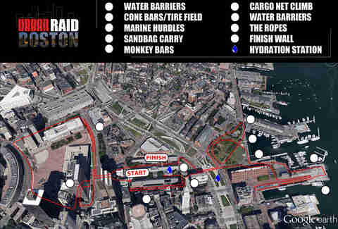 Course map for Boston Urban RAID