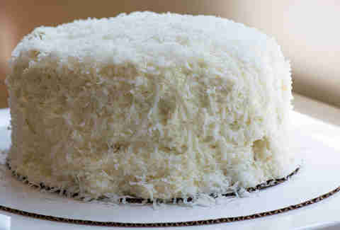 Coconut cake at Cookie Bar in Ravenswood
