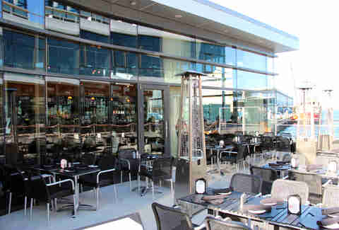Patio at 75 on Liberty Wharf