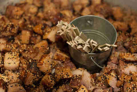 Diced pork at a Cochon Epic event