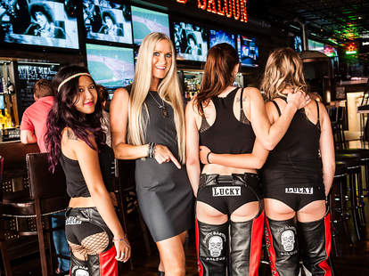 Nicole Dahm Kelly at Lucky Bastard Saloon in San Diego.