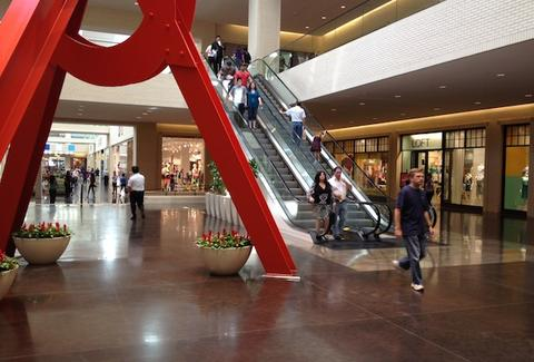 A sculpture at NorthPark Mall