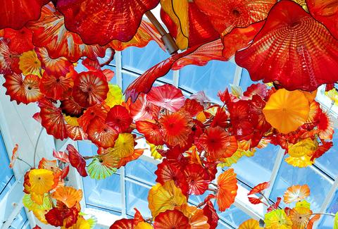 Chihuly Garden and Glass -- Glasshouse -- Seattle