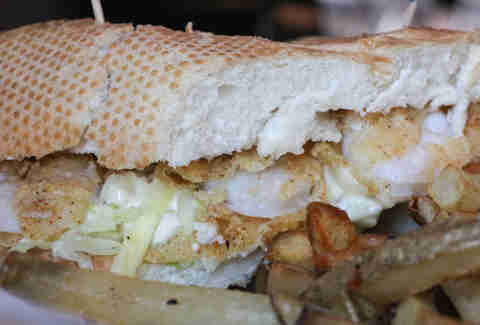 Shrimp po' boy at Nola Grill