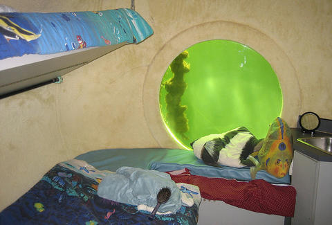 Undersea bedroom