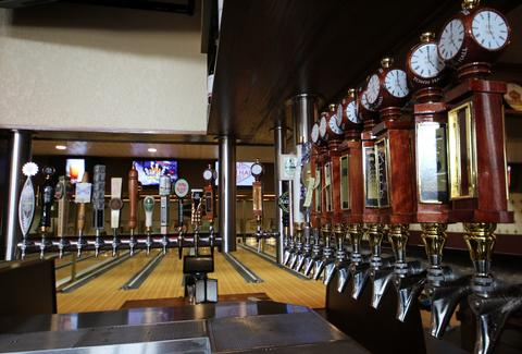 Town Hall Lanes taps
