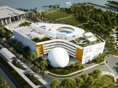 Miami Science Museum and Planetarium aerial view