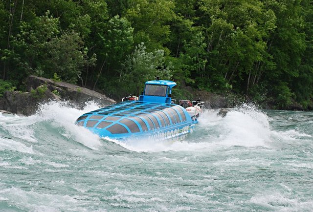 Blast down class 5 rapids in a jet boat