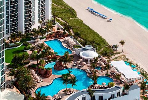 Pool at Trump International Beach Resort in Miami, FL