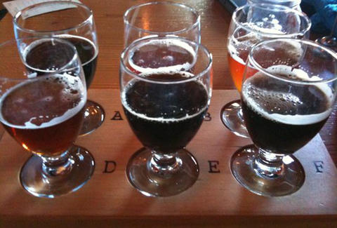 Sampler Tray at Migration Brewing