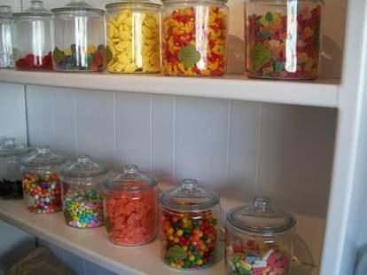 Jars of candy at Sugar Sugar