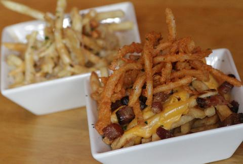 Cheese fries at Umami Burger in the West Village
