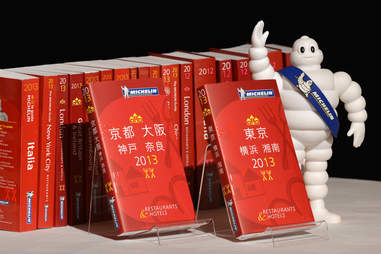 Michellin 3 star award booklets